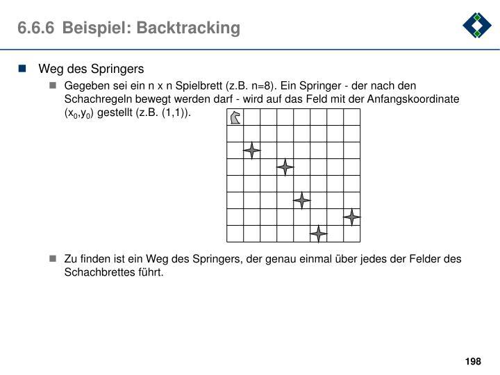 6.6.6Beispiel: Backtracking