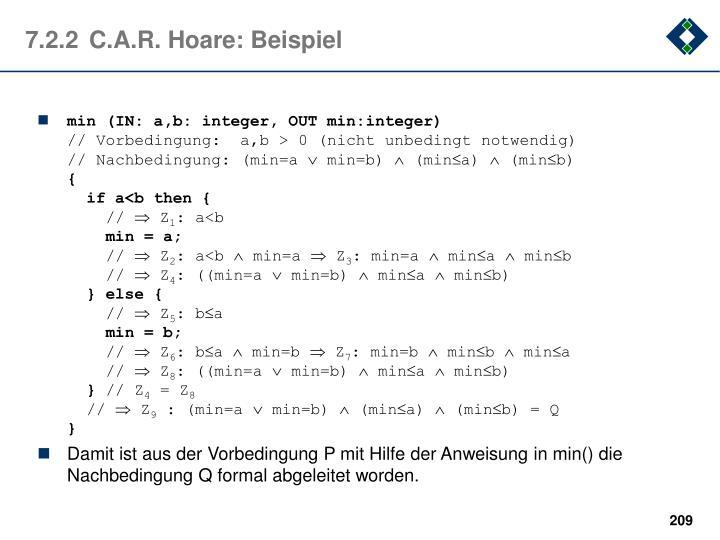 7.2.2C.A.R. Hoare: Beispiel
