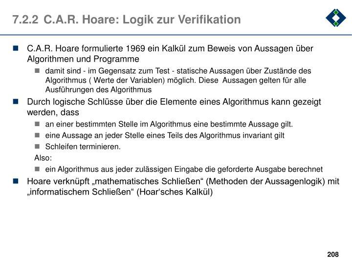 7.2.2C.A.R. Hoare: Logik zur Verifikation