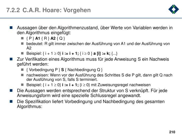 7.2.2C.A.R. Hoare: Vorgehen