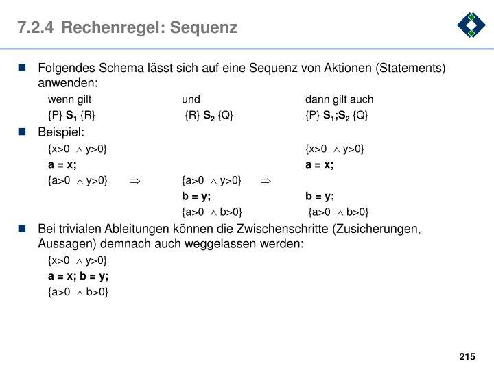 7.2.4Rechenregel: Sequenz