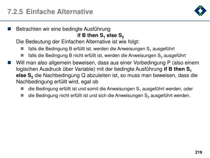 7.2.5Einfache Alternative