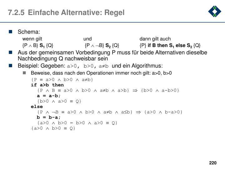 7.2.5Einfache Alternative: Regel
