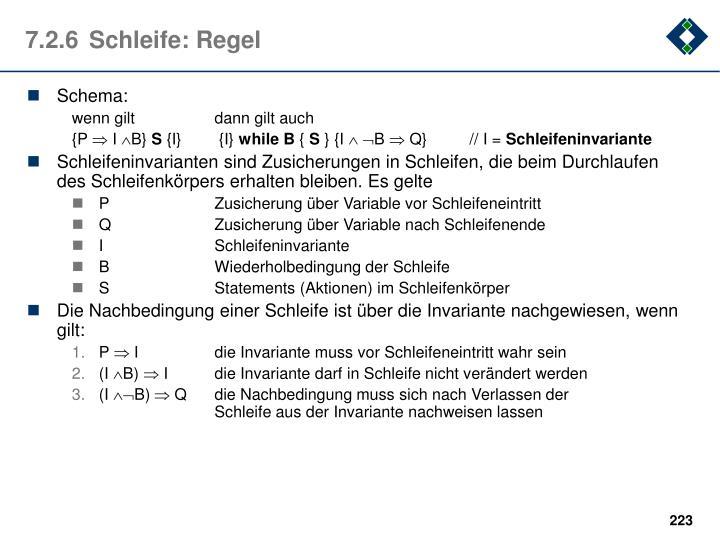 7.2.6Schleife: Regel