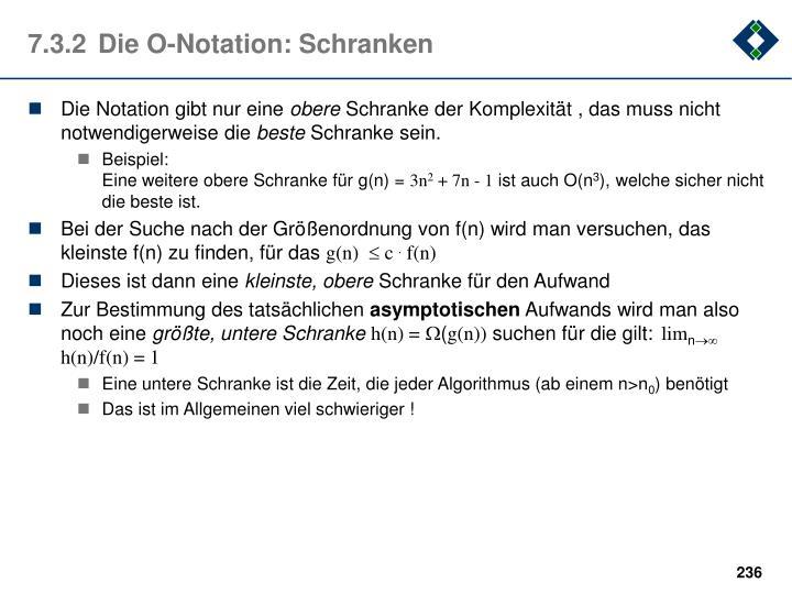 7.3.2Die O-Notation: Schranken