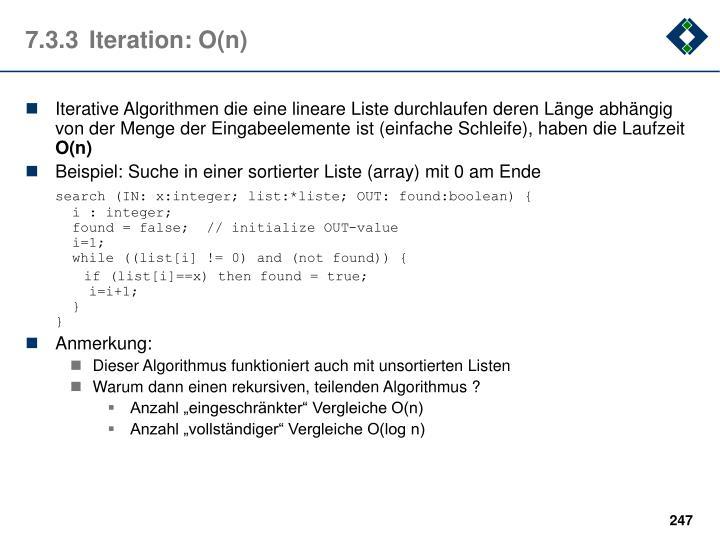 7.3.3Iteration: O(n)
