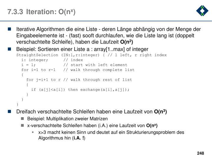 7.3.3Iteration: O(n