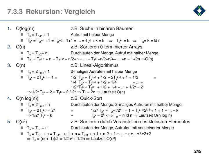 7.3.3Rekursion: Vergleich