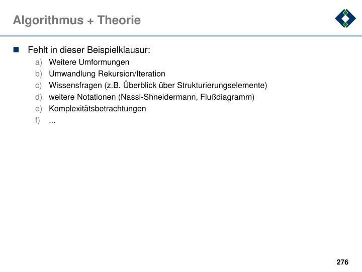 Algorithmus + Theorie
