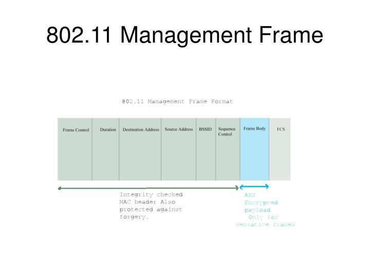 802.11 Management Frame