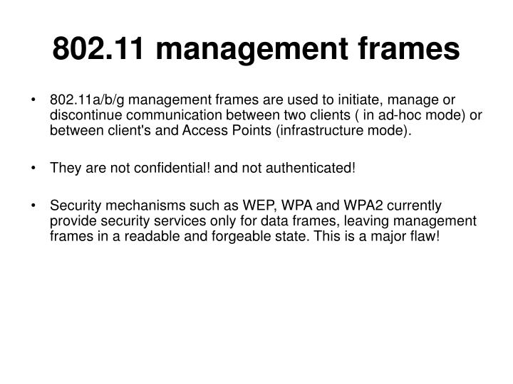 802.11 management frames