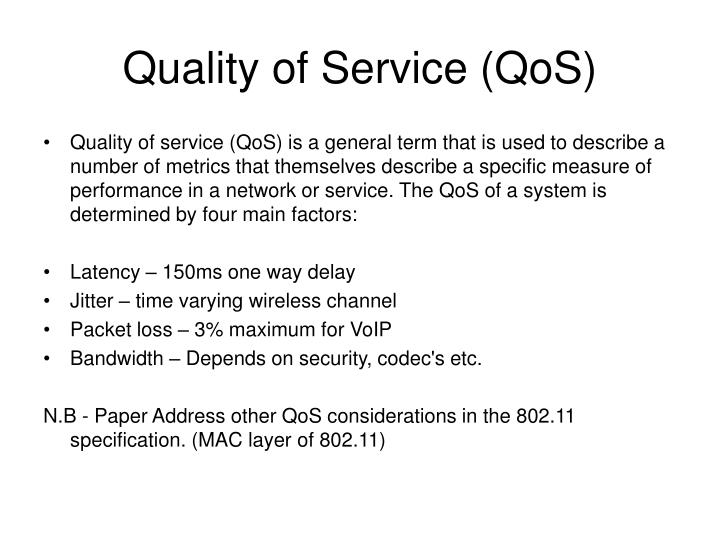 Quality of service qos