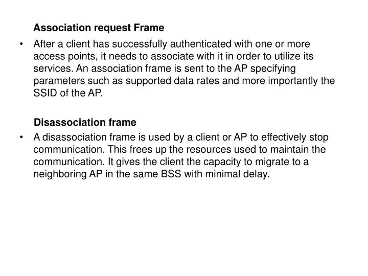 Association request Frame