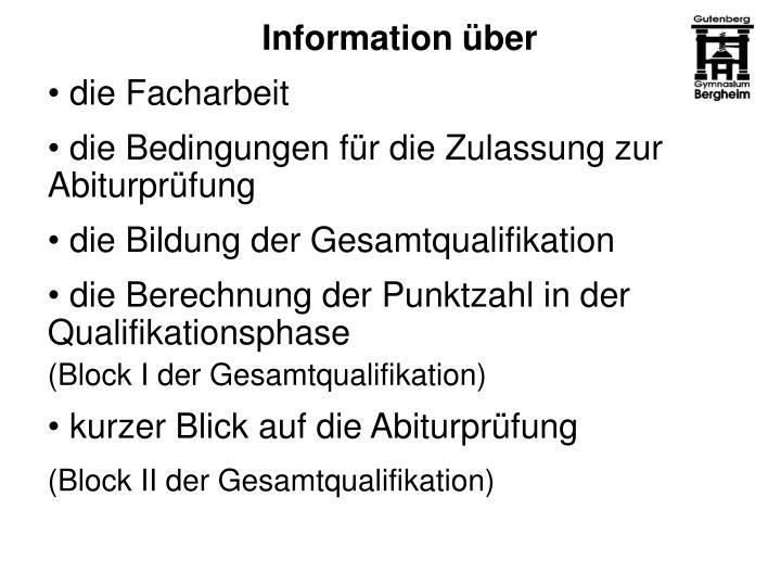 Information über