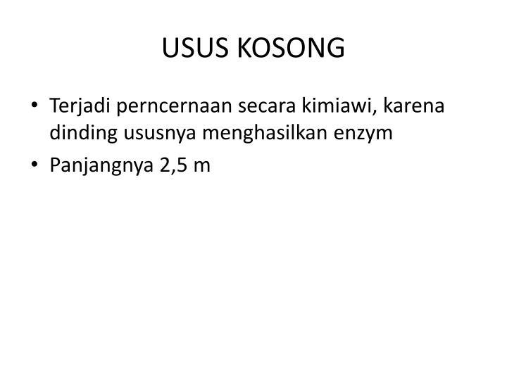 USUS KOSONG