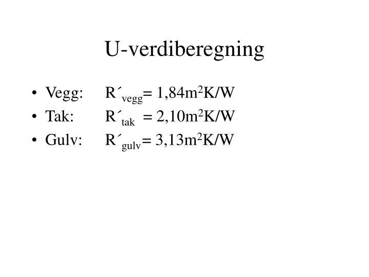 U-verdiberegning