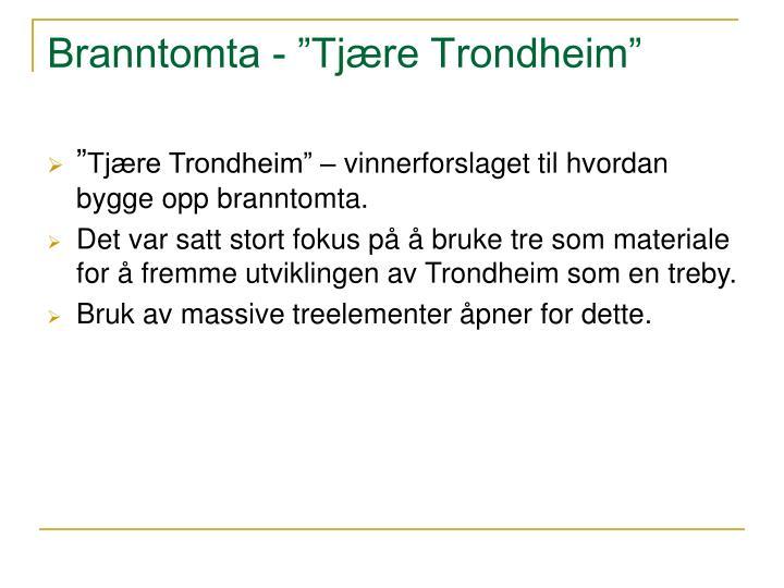 """Branntomta - """"Tjære Trondheim"""""""