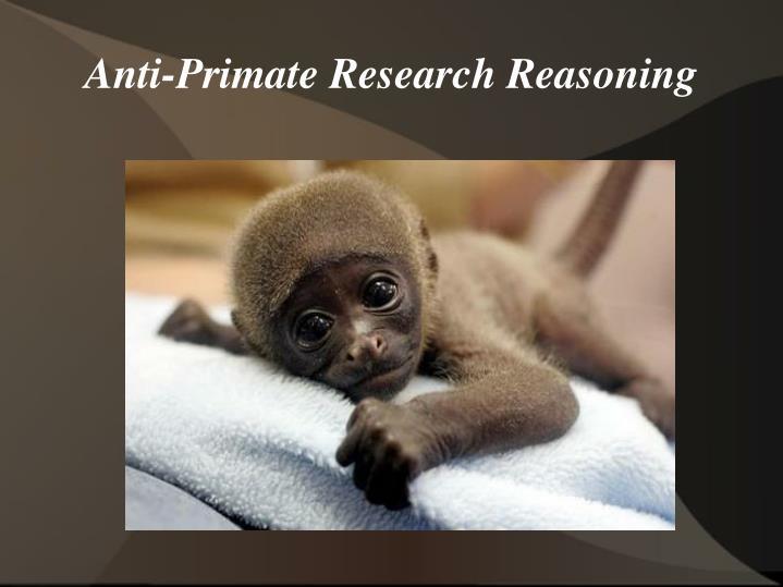 Anti-Primate Research Reasoning