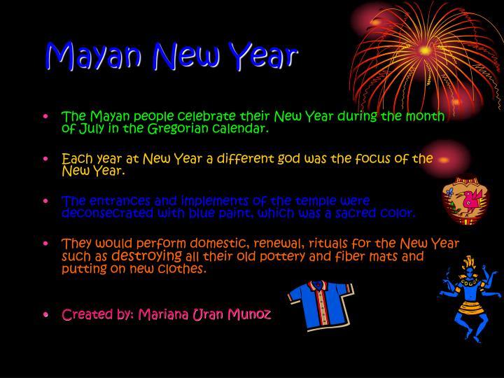 Mayan New Year