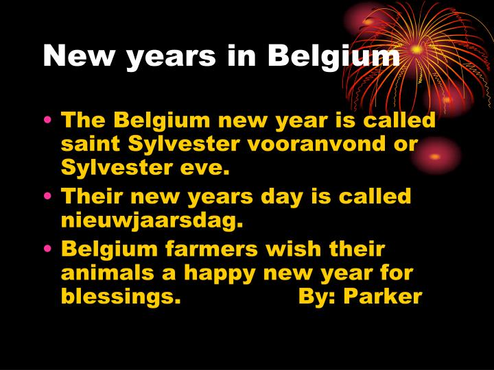 New years in Belgium