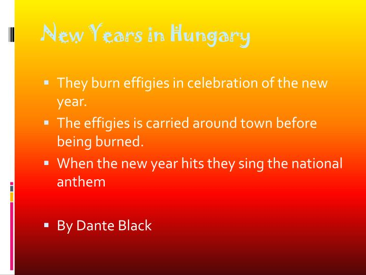 New Years in Hungary