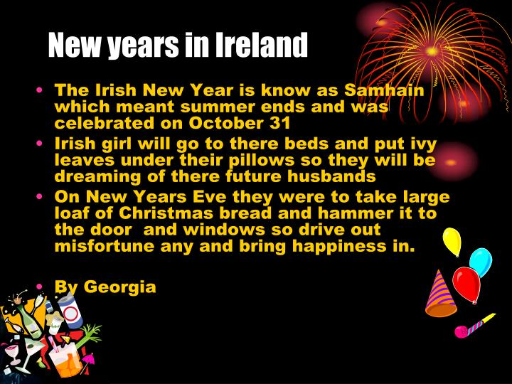 New years in Ireland