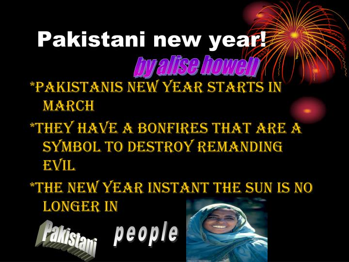 Pakistani new year!