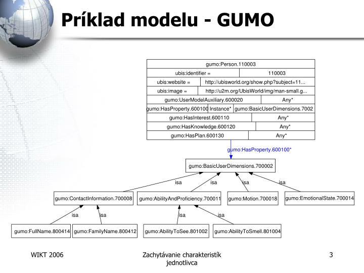Príklad modelu - GUMO