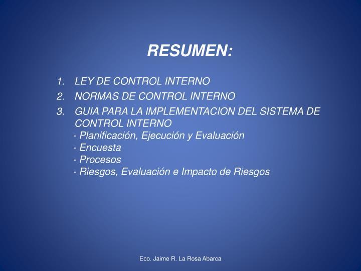 RESUMEN:
