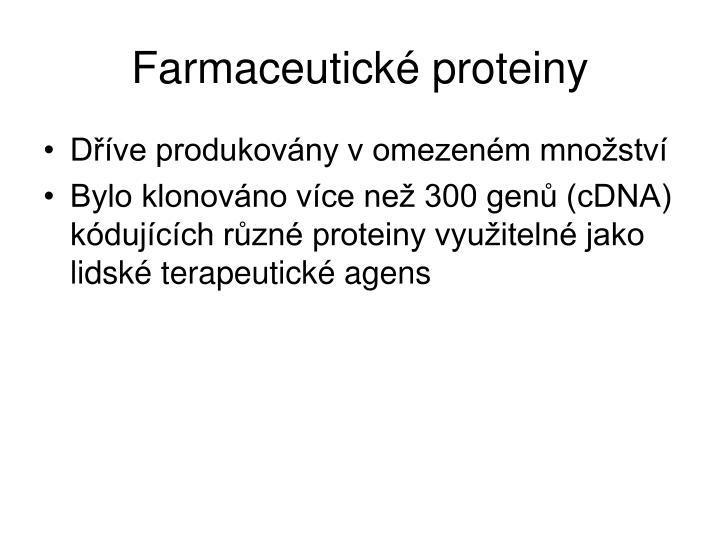 Farmaceutické proteiny