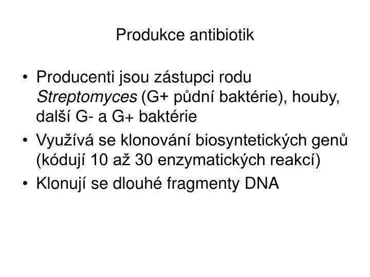 Produkce antibiotik