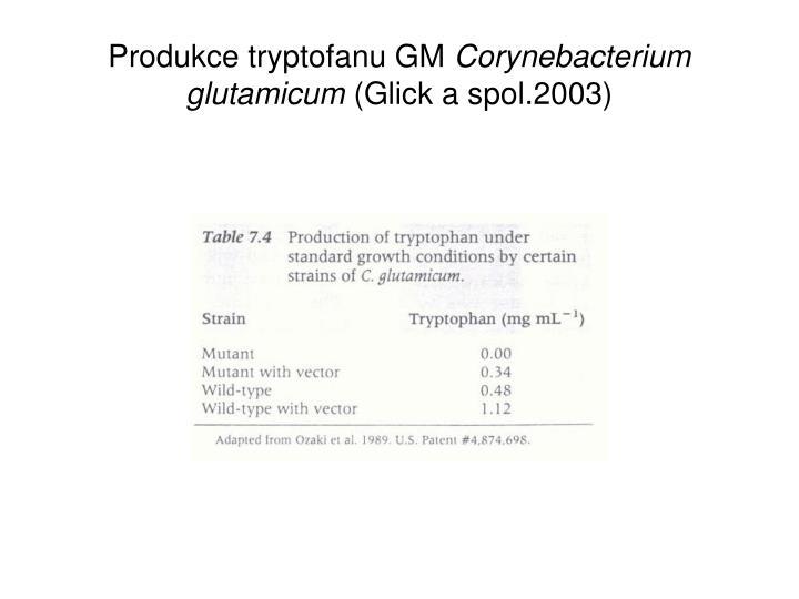 Produkce tryptofanu GM