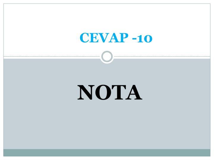 CEVAP -10