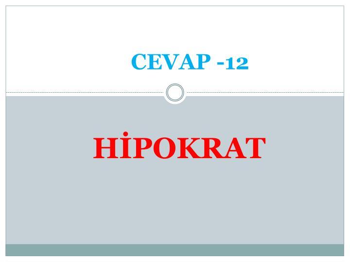 CEVAP -12