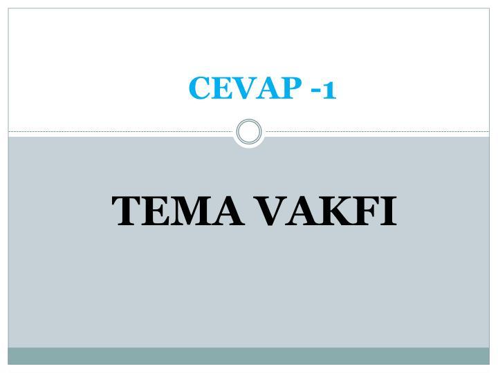 CEVAP -1
