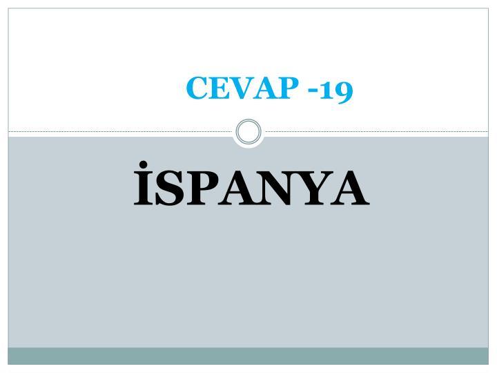 CEVAP -19