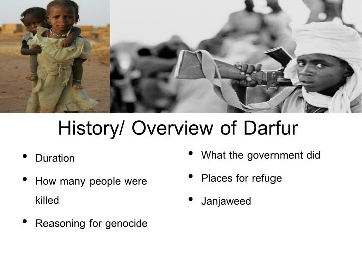 History overview of darfur