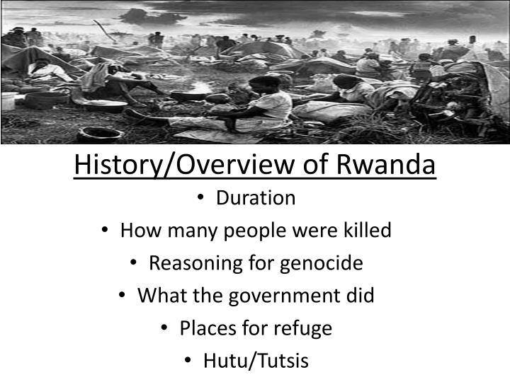 History/Overview of Rwanda