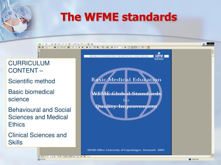 The WFME standards
