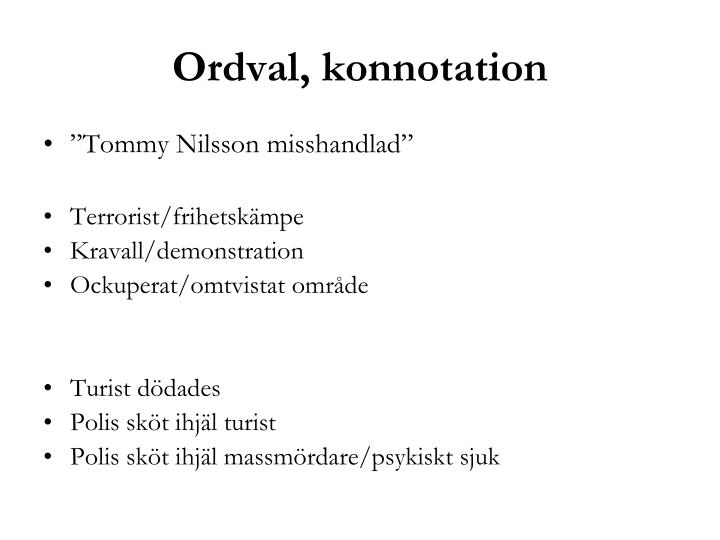 Ordval, konnotation