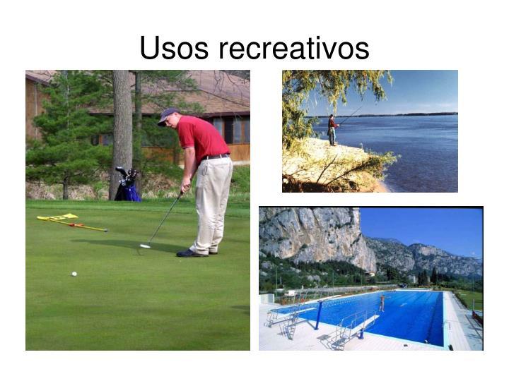 Usos recreativos