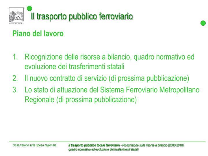 Il trasporto pubblico ferroviario