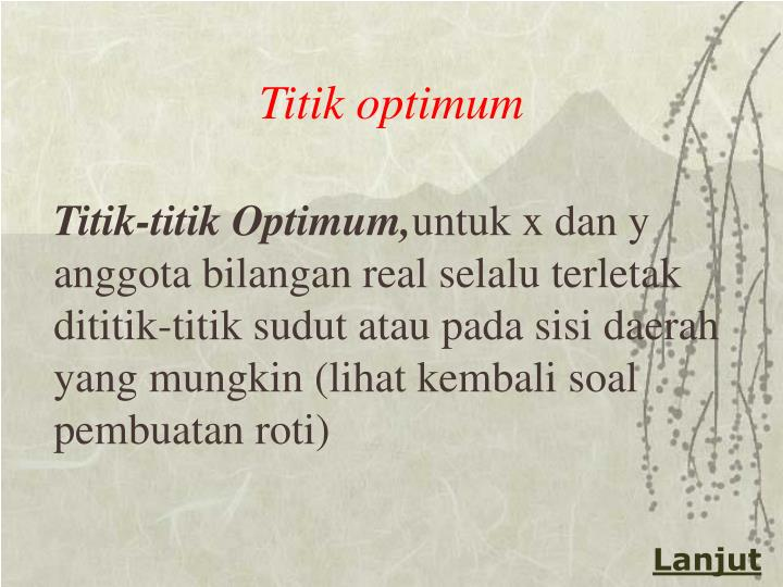 Titik optimum