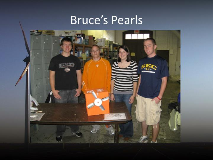 Bruce's Pearls