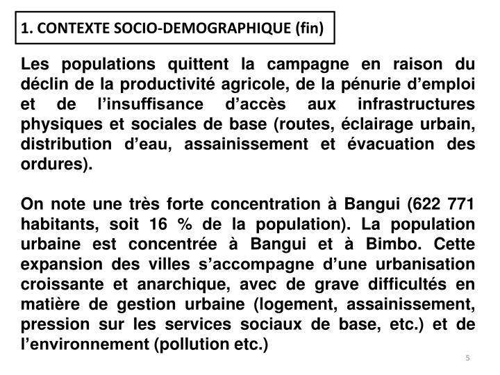 1. CONTEXTE SOCIO-DEMOGRAPHIQUE (fin)