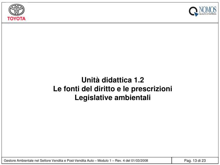 Unità didattica 1.2