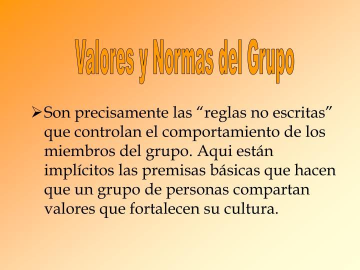 Valores y Normas del Grupo