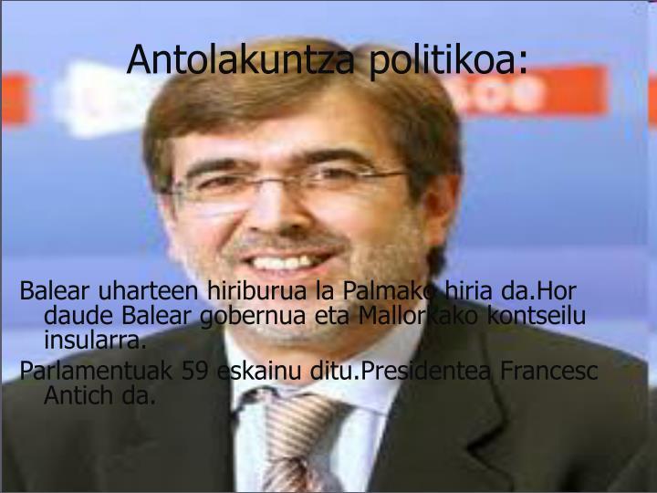 Antolakuntza politikoa: