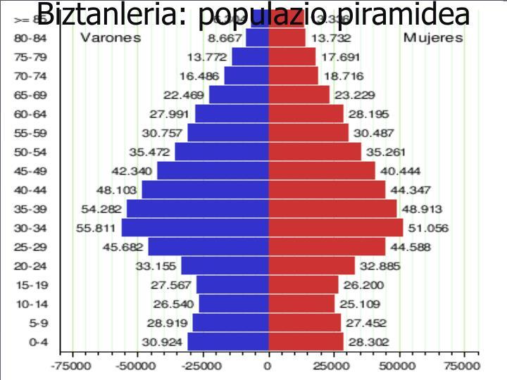 Biztanleria: populazio piramidea