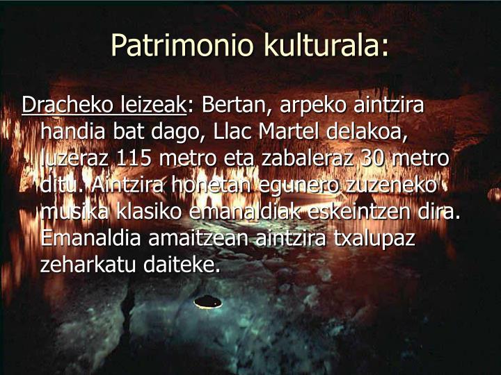 Patrimonio kulturala: